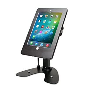 CTA Digital PAD-ASKB Dual Security Kiosk Stand with Locking Case & Cable for iPad 2017/2018/iPad Air/iPad Pro 9.7, Black