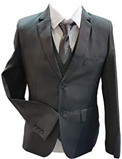 Waniwarehouse 5pc Boys Brown Beige Tweed Check Suit Weddings Page Boy Peaky Blinder 1-15 Year