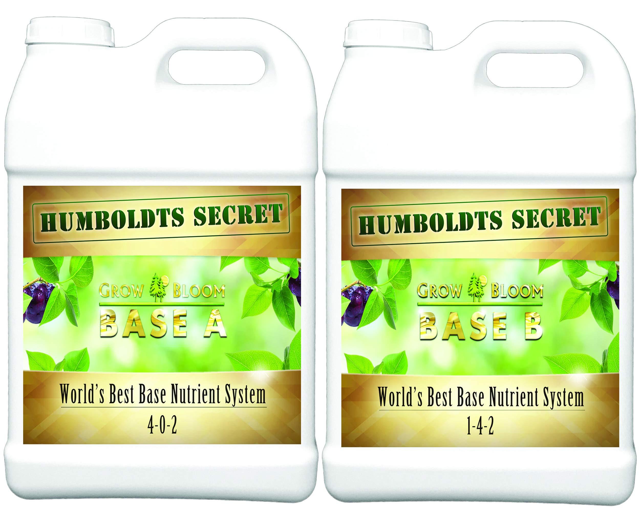World's Best Base Nutrient System: Humboldts Secret Base A & B Bundle - Liquid Nutrient/Fertilizer for The Vegetative & Flowering Stages of Plants (2.5 Gallon)