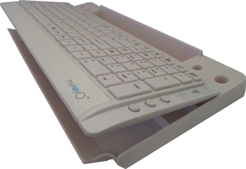 amazoncom mykeyo full size wireless 6in1 keep neat keyboard stand and organizer rev 18 computers u0026 accessories