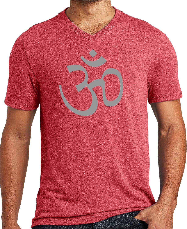 Yoga Clothing For You Mens Hindu AUM Om Triblend V-Neck Tee Shirt