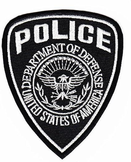 Parche plancha de planchar Iron on Uniforme de la aplicación de parches US Police Special Forces de Insignia de policía de: Amazon.es: Coche y moto
