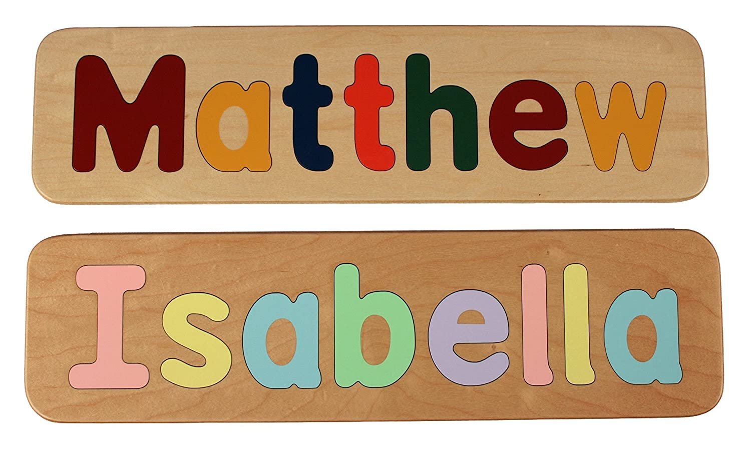Amazon name puzzle raised mixed case letters handmade amazon name puzzle raised mixed case letters handmade wooden custom personalized first birthday gift educational toy 500 shipping for your negle Image collections