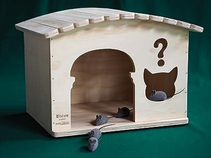 Novedades Blitzen, para interior, diseño de caseta para perro gato en el tejado con