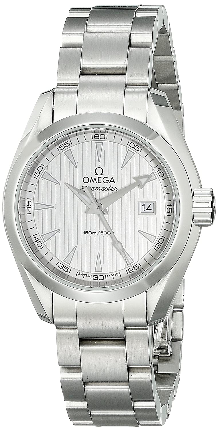 Omega Women s 23110306002001 Analog Display Swiss Quartz Silver Watch