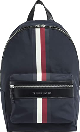 a6ea91f5 Tommy Hilfiger Men's Elevated Signature Tape Backpack Elevated Signature Tape  Backpack, Tommy Navy, One