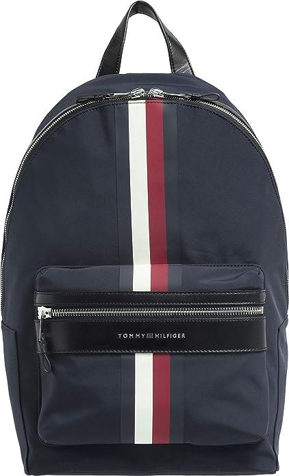 Tommy Hilfiger Hombres mochila elevada con rayas de firma Marina De Guerra única Talla: Amazon.es: Zapatos y complementos