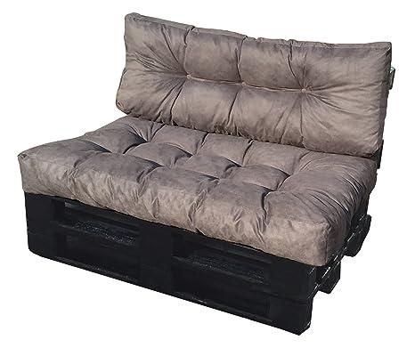 Set Cuscini Per Divani Pallet Bancali Seduta 120x80x15 Cm