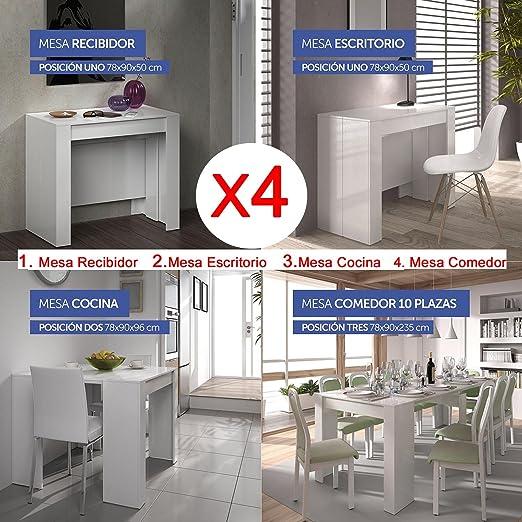 Hogar Decora Mesa de Comedor o Mesa Cocina o Consola, de 50 cm a ...