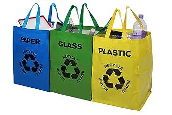 premier housewares juego de bolsas de reciclaje unidades multicolor