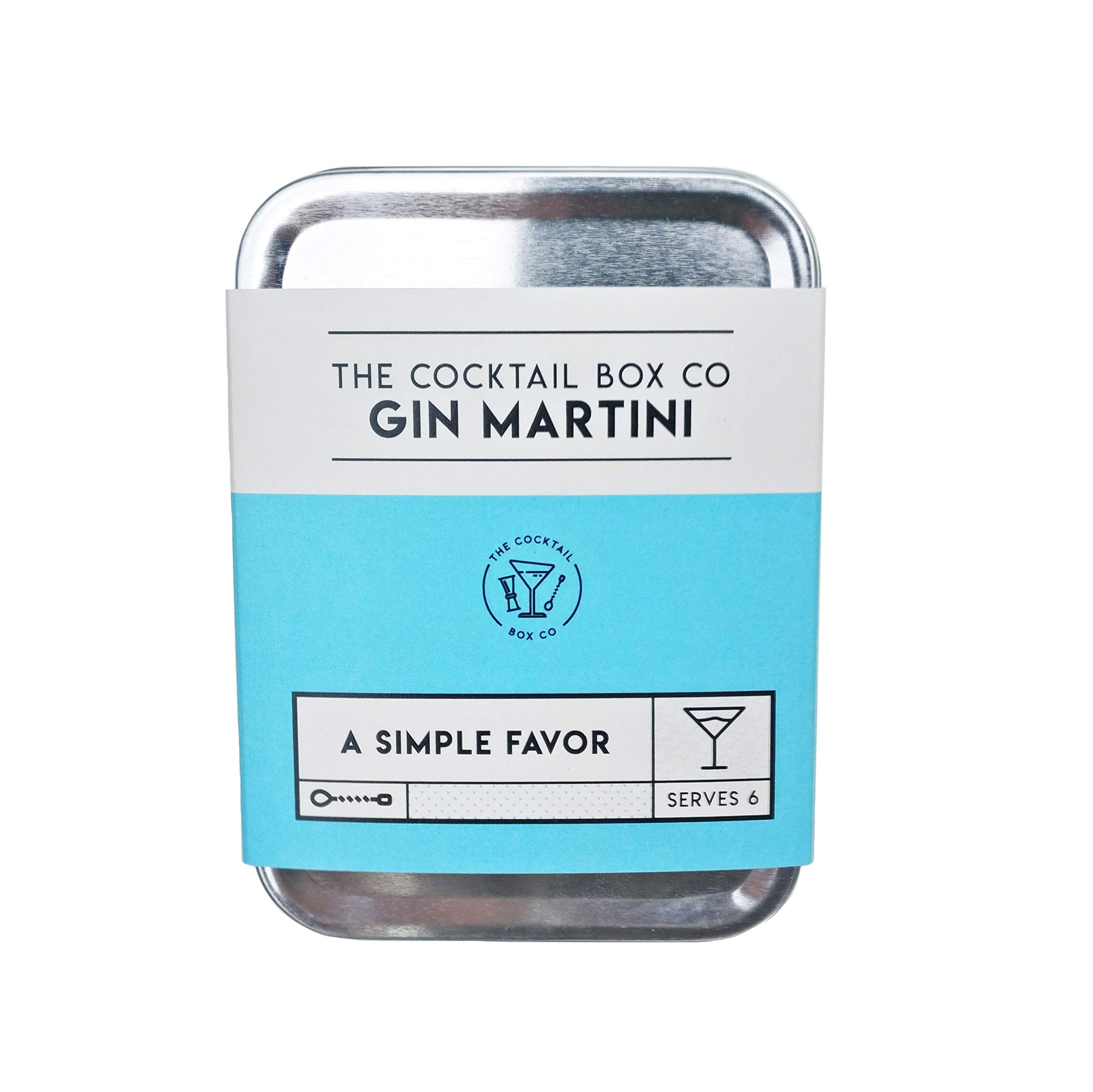 Premium Cocktail Kit - Limited Edition Gin Martini - Inspired by The Movie 'A Simple Favor' - Makes 6 Premium Cocktails