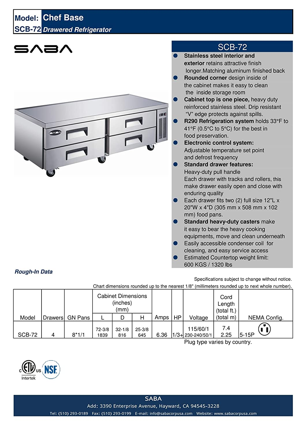 Cb 72 4 Drawer Refrigerated Chef Base Appliances 240 Volt Freezer Schematic