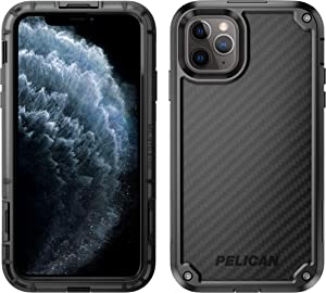 Pelican iPhone 11 Pro Max Case, Shield Case - Military Grade Drop Tested – with Kevlar brand fibers, TPU, Polycarbonate Protective Case for Apple iPhone 11 Pro Max (Black)