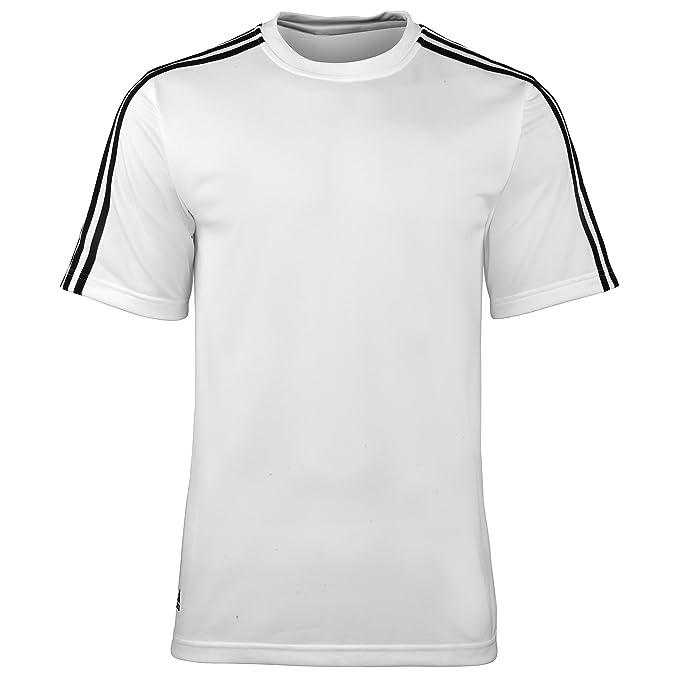 Adidas - Camiseta de entrenamiento transpirable de manga corta - 100% Poliestér: Amazon.es: Ropa y accesorios