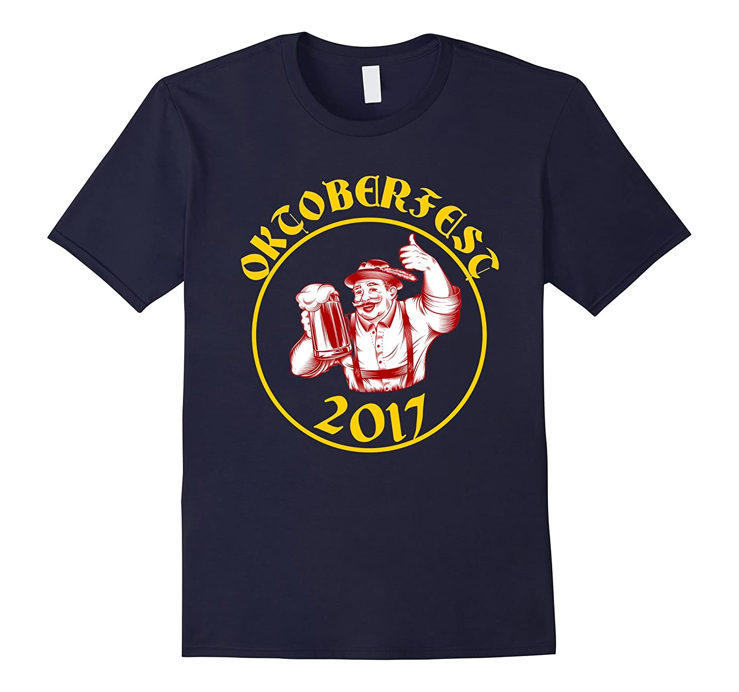 2017 Oktoberfest Shirt With German Beer Drinking Man-BN