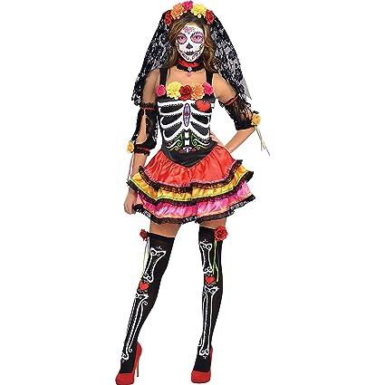 Disfraz Señorita Catrina para mujeres en varias tallas para Halloween