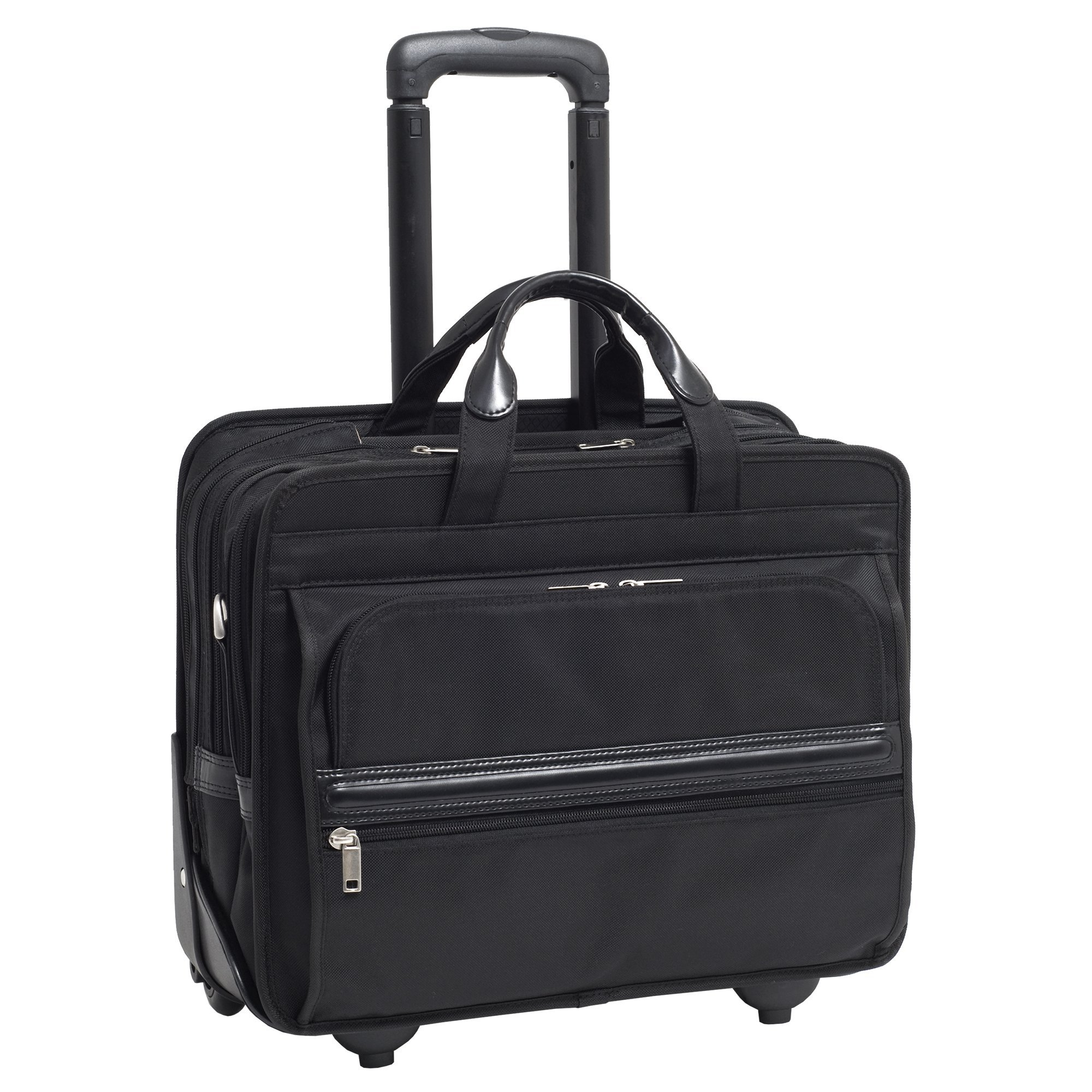 McKleinUSA FRANKLIN 56445 Black Nylon 17 Detachable-Wheeled Laptop Case US PATENT # 6,595,334