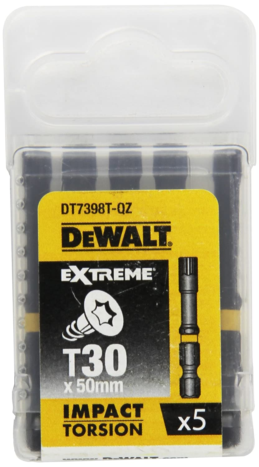 DeWalt  DT7398T-QZ, T30 Extreme Impact Torsion Bits, Pack of 5, 50  mm 50 mm
