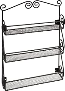 Spectrum Diversified Scroll Nail Polish Rack, Black