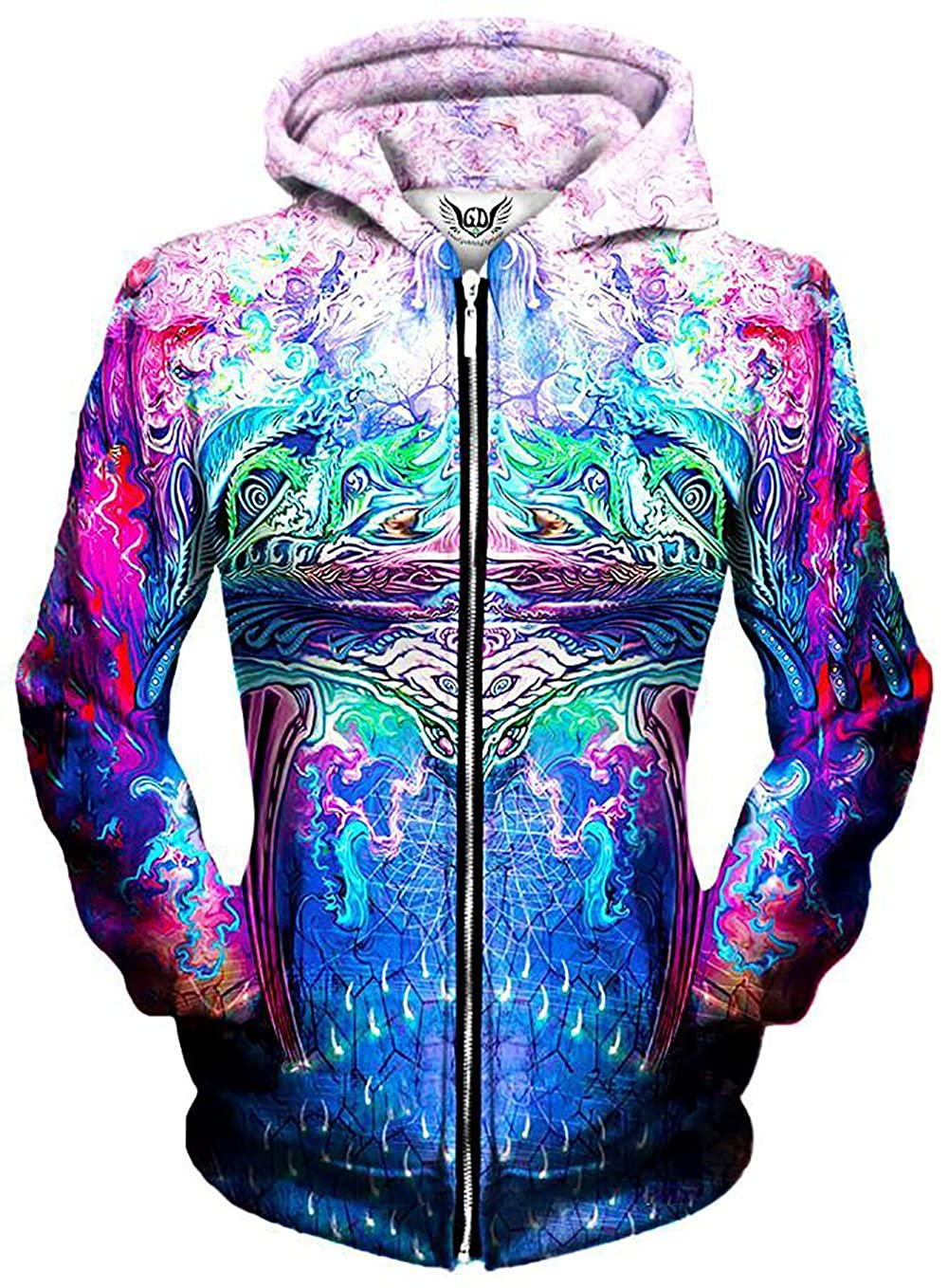 Premium All Over Print Graphics Gratefully Dyed Symetricity Hoodie