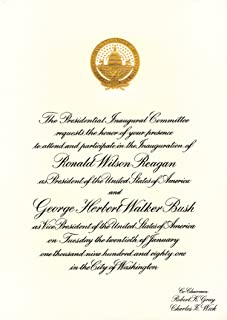 product image for American Coin Treasures Official Ronald Reagan First Presidential Inauguration Invitation