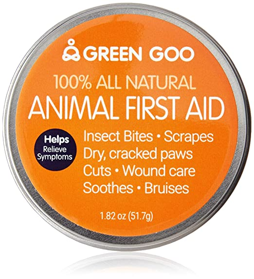 Green Goo All-Natural Skin Care Ointment, Animal First Aid, Large Tin, 1.82 Ounce