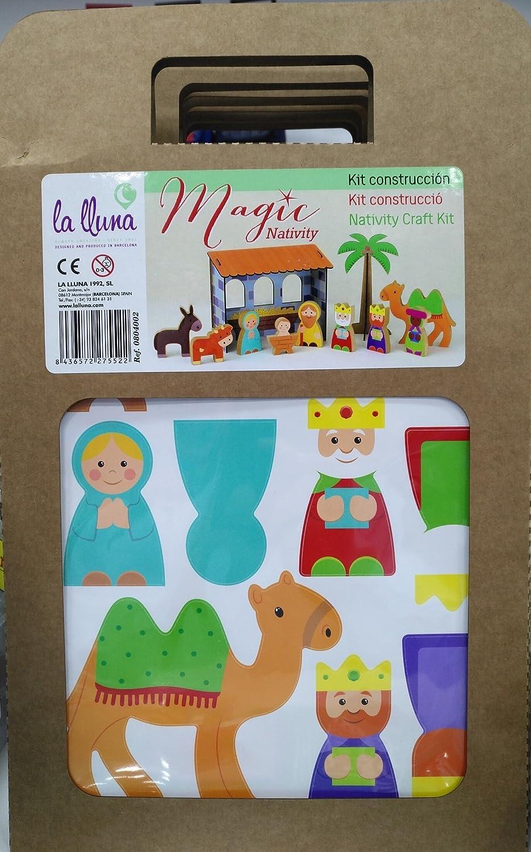 La Lluna 804002 Belén Construcción Kit con pegatinas: Amazon.es: Juguetes y juegos