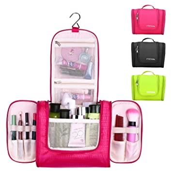 b2165ef8f6d4 Hanging Toiletry Bag By F.FETIVIN .Durable Metal Hook - Waterproof Women s Makeup  Organizer