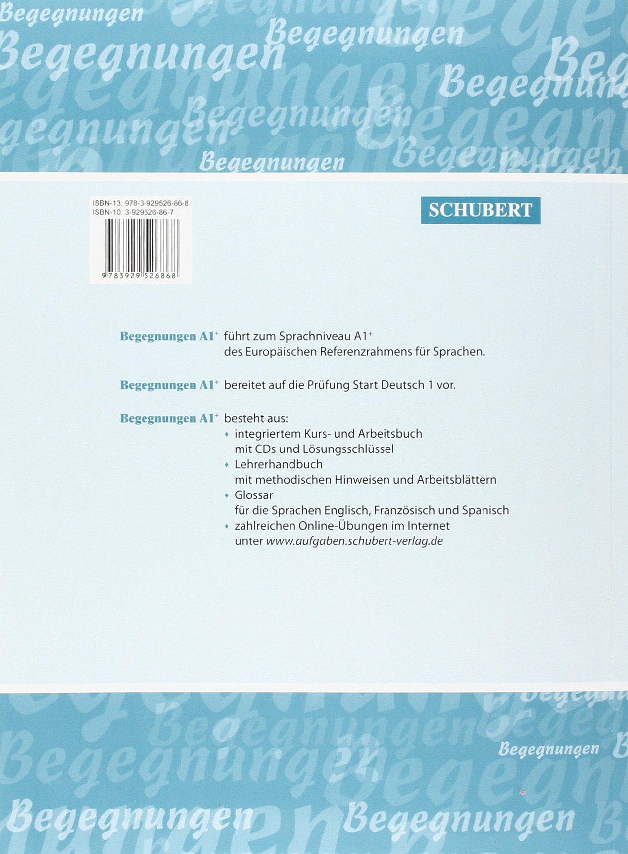 Begegnungen: Kurs- und Arbeitsbuch A1+ mit 2 CDs: Alexander Hartung ...