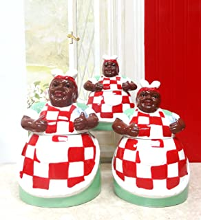 Aunt Jemima 3 Piece Kitchen Canister Set