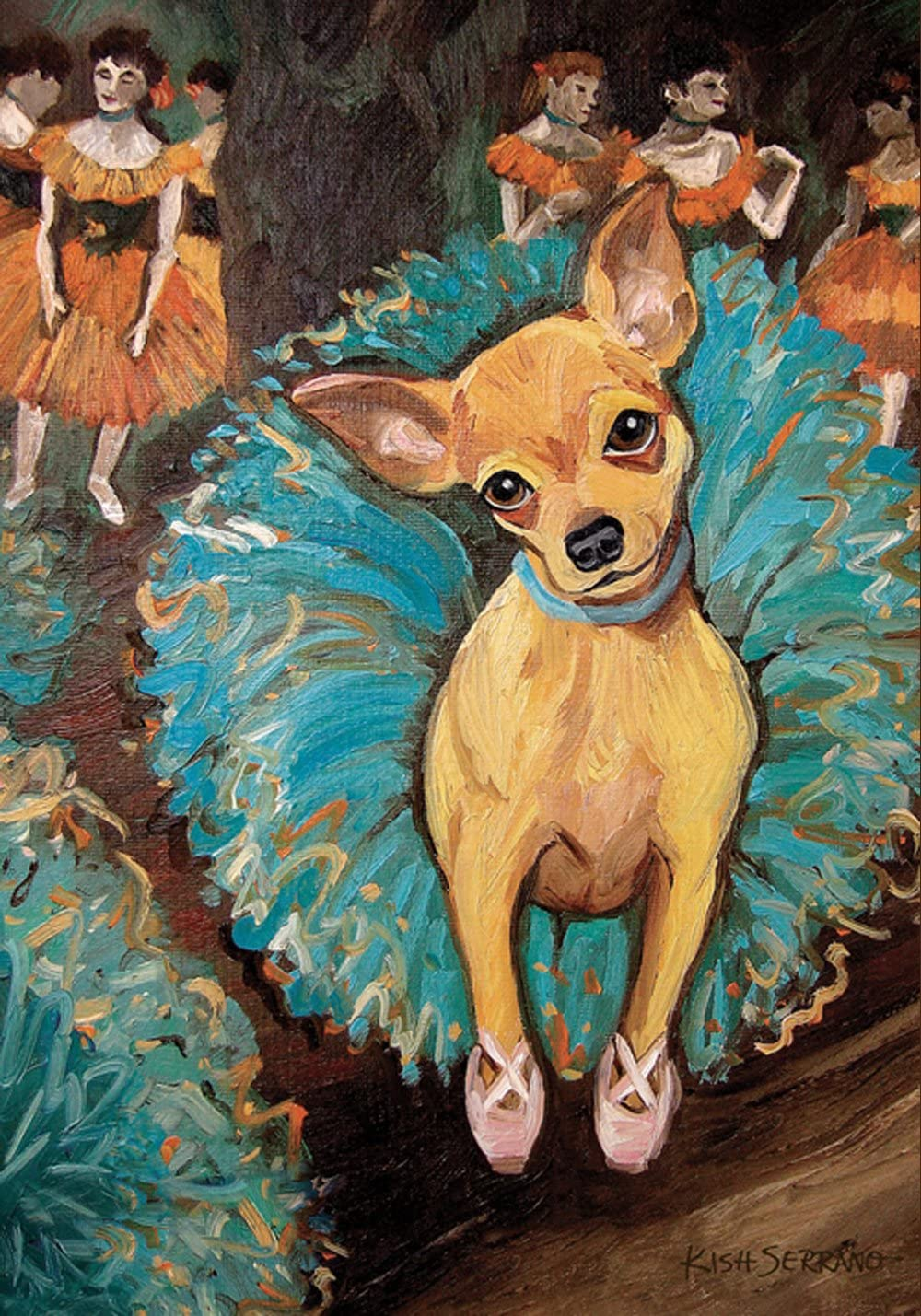 Toland Home Garden Dogas Chihuahua 28 x 40 Inch Decorative Puppy Dog Portrait Ballerina Dancer House Flag