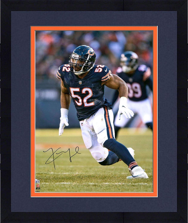 size 40 713cf e220d Framed Khalil Mack Chicago Bears Autographed 16