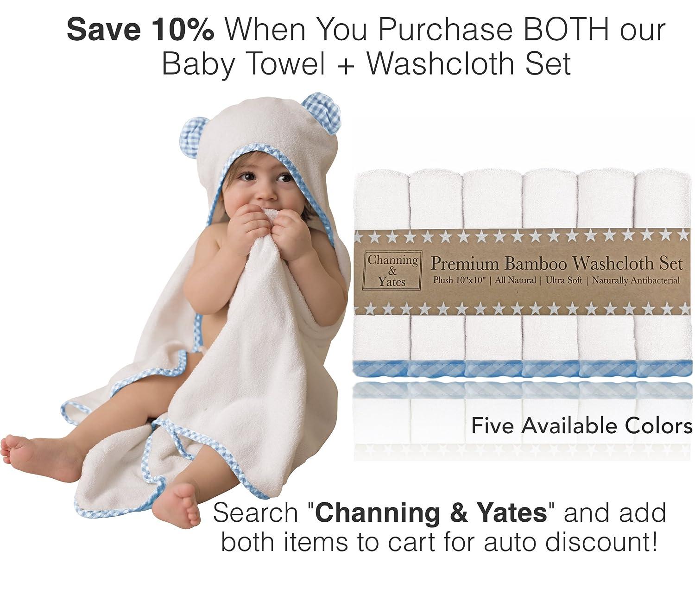 blau mit kapuze baby-handtuch und waschlappen set bio-bambus-baby-handt/ücher mit kapuze - Channing /& Yates baby-handt/ücher f/ür jungen