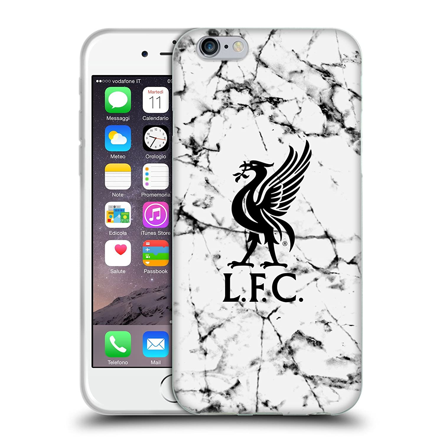Liverpool Calendario.Official Liverpool Football Club Black Liver Bird 2017 18 Marble Soft Gel Case For Iphone 6 Iphone 6s