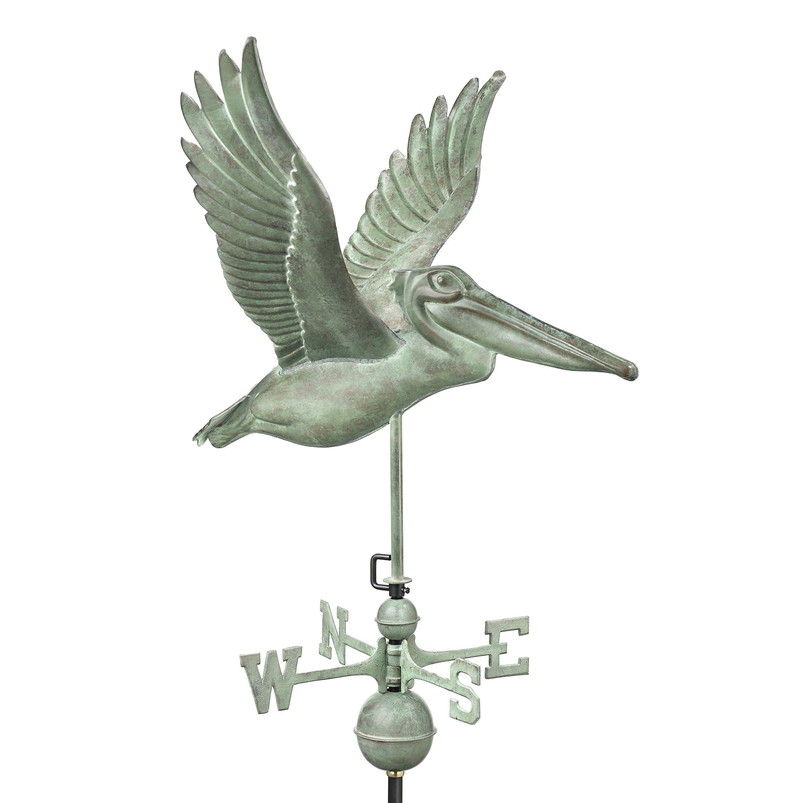 Good Directions Pelican Weathervane, Blue Verde Copper
