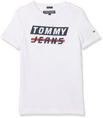 40b1b400dbaef8 Tommy Hilfiger Boy s AME Bold Logo Tee S S T-Shirt  Tommy Hilfiger ...