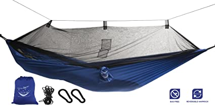 Medium image of mosquito   hammock   extra strong ripstop nylon camping hammock   reversible  pact lightweight