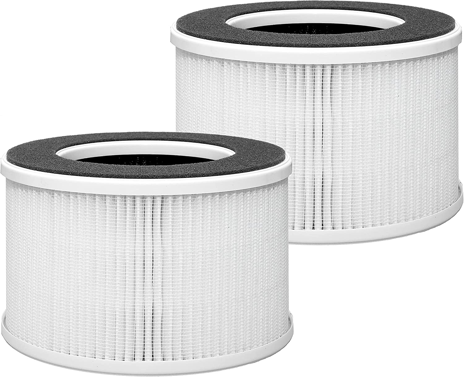 Lhari True HEPA Replacement Filter HME020020N compatible with hOmeLabs 4-in-1 Compact HEPA Air Purifier, AK050GE, Remove Allergens and Odors, 2-pack