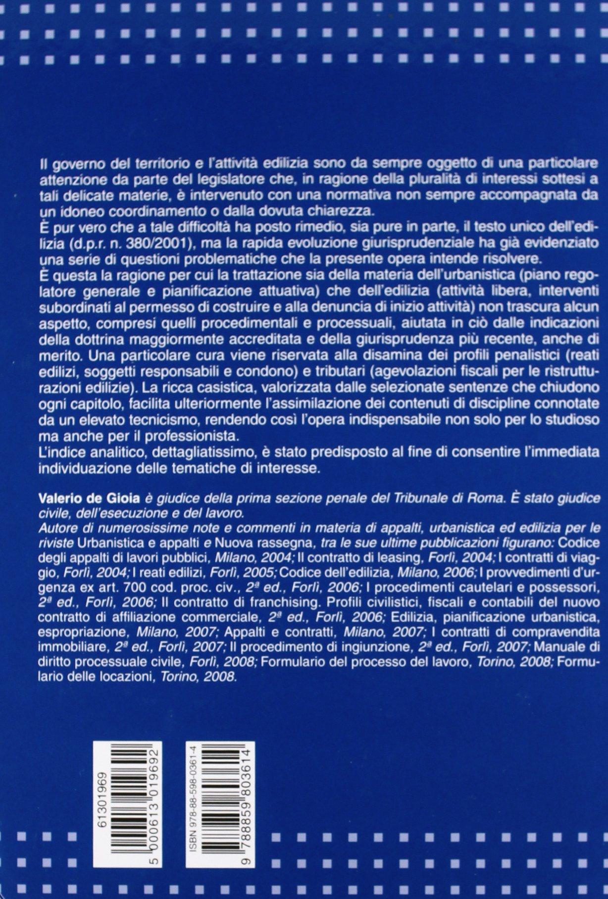Edilizia e urbanistica. Regimi normatici, titoli abilitativi e strumenti di tutela
