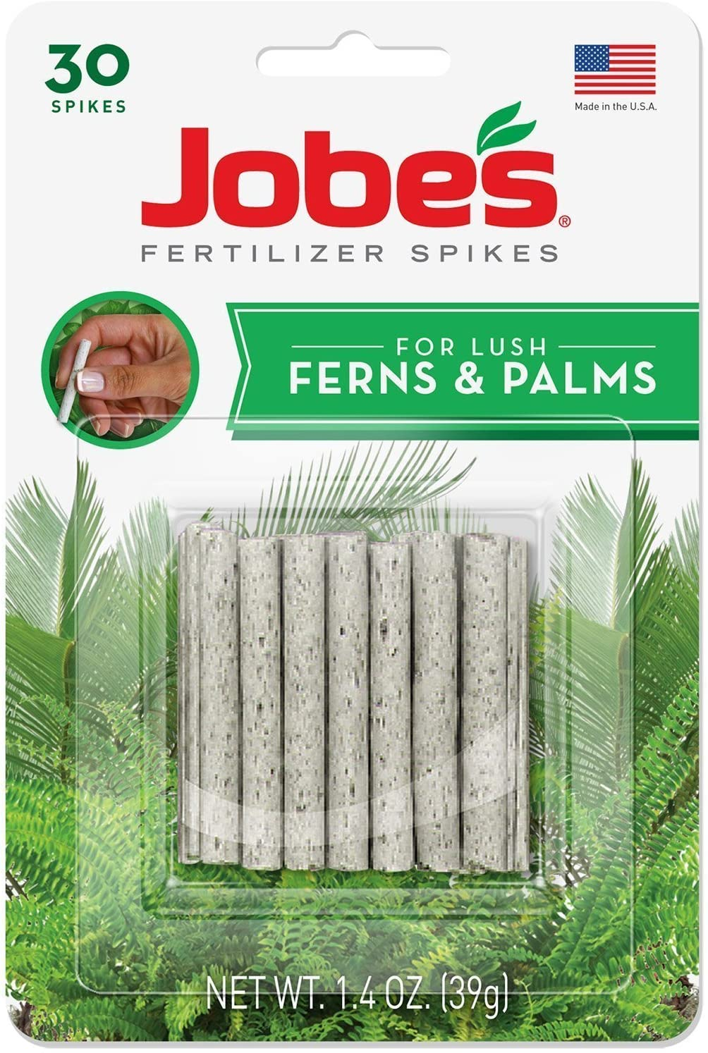 Jobe's 05101 Fern & Palm Fertilizer Spikes