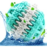 Dog Chew Toy Ball, Petcaree Natural Rubber Nontoxic 3 inch Ball with Mint Flavor, Treat Balls Tough Training Ball that Massage Teeth Eliminate the Smell - Virtually Indestructible