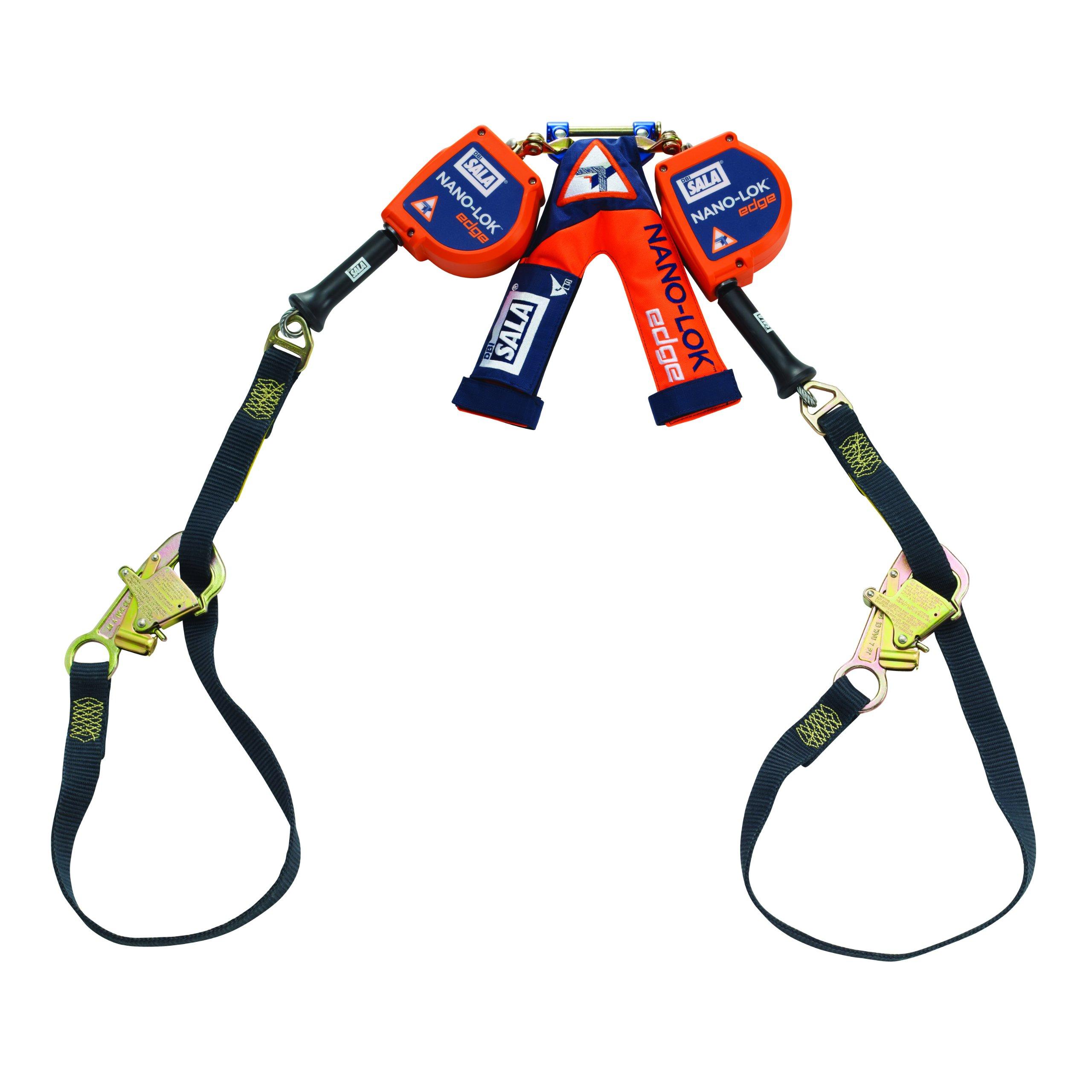3M DBI-SALA Nano-Lok Edge 3500228 SRL, 9-' Double-Leg, Leading and Sharp Edge Wrap Bax Hook, Quick Connector for Harness Mount