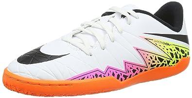 new concept 5e3b3 79c56 Nike Junior Hypervenom Phelon II IC, Football Mixte Enfant, Blanc  (White Black