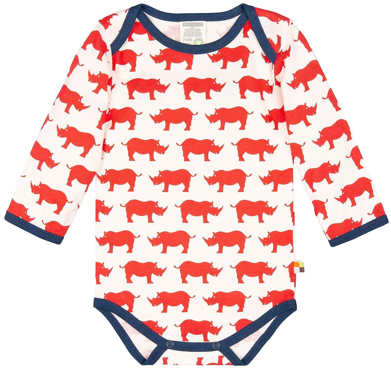 Aus Bio Baumwolle GOTS Zertiziziert Romper loud proud Baby Body Lang Mit Druck