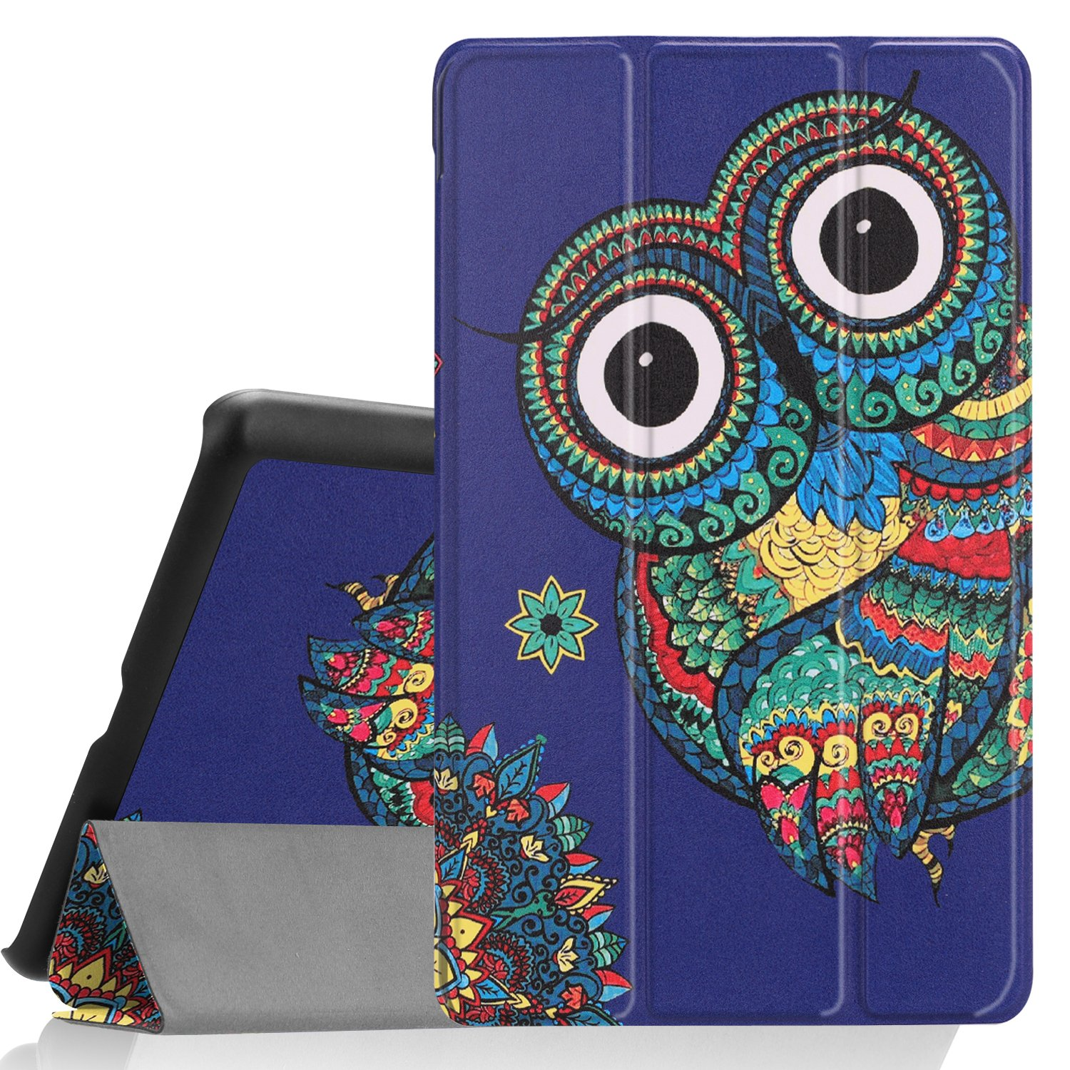 LG G Pad F2 8.0 Sprint (LK460)£Case, Ratesell Slim Fit Protective Durable Premium Leather Stand Folio Case for LG GPad F2 8.0 Sprint Model LK460 8-Inch Android Tablet 2017 Release (Blue Owl)