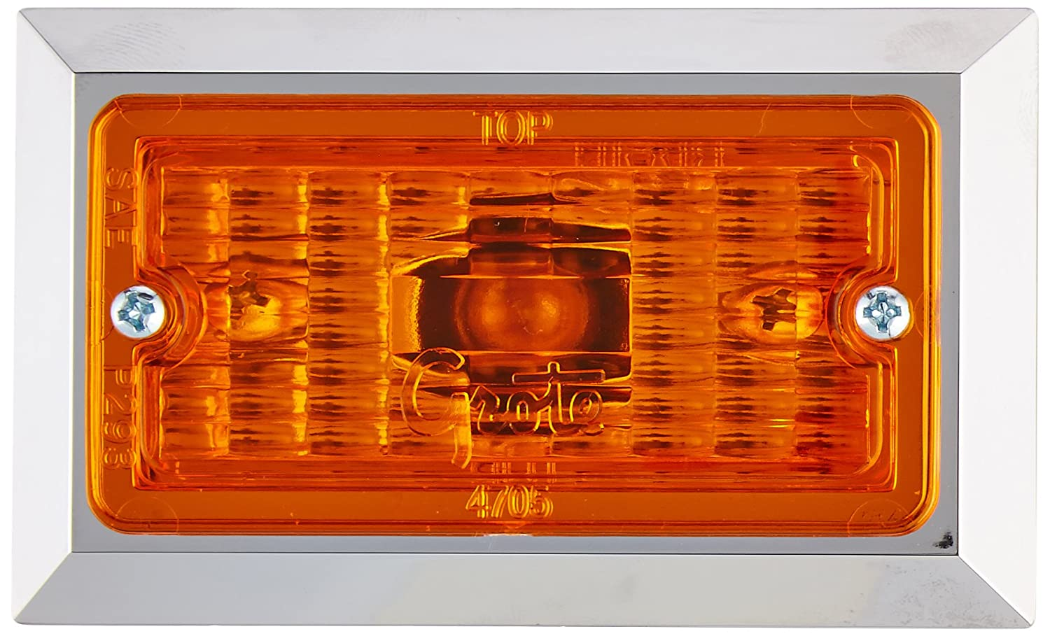 Grote 47053 Yellow Rectangular Clearance Marker Light
