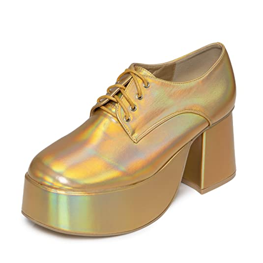 Men's Gold Platform Shoes (other colours available) Sizes 5 to 11