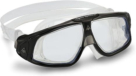 Clear Lens//Black And Grey Frame Aqua Sphere Adult Seal 2.0 Swim Goggles