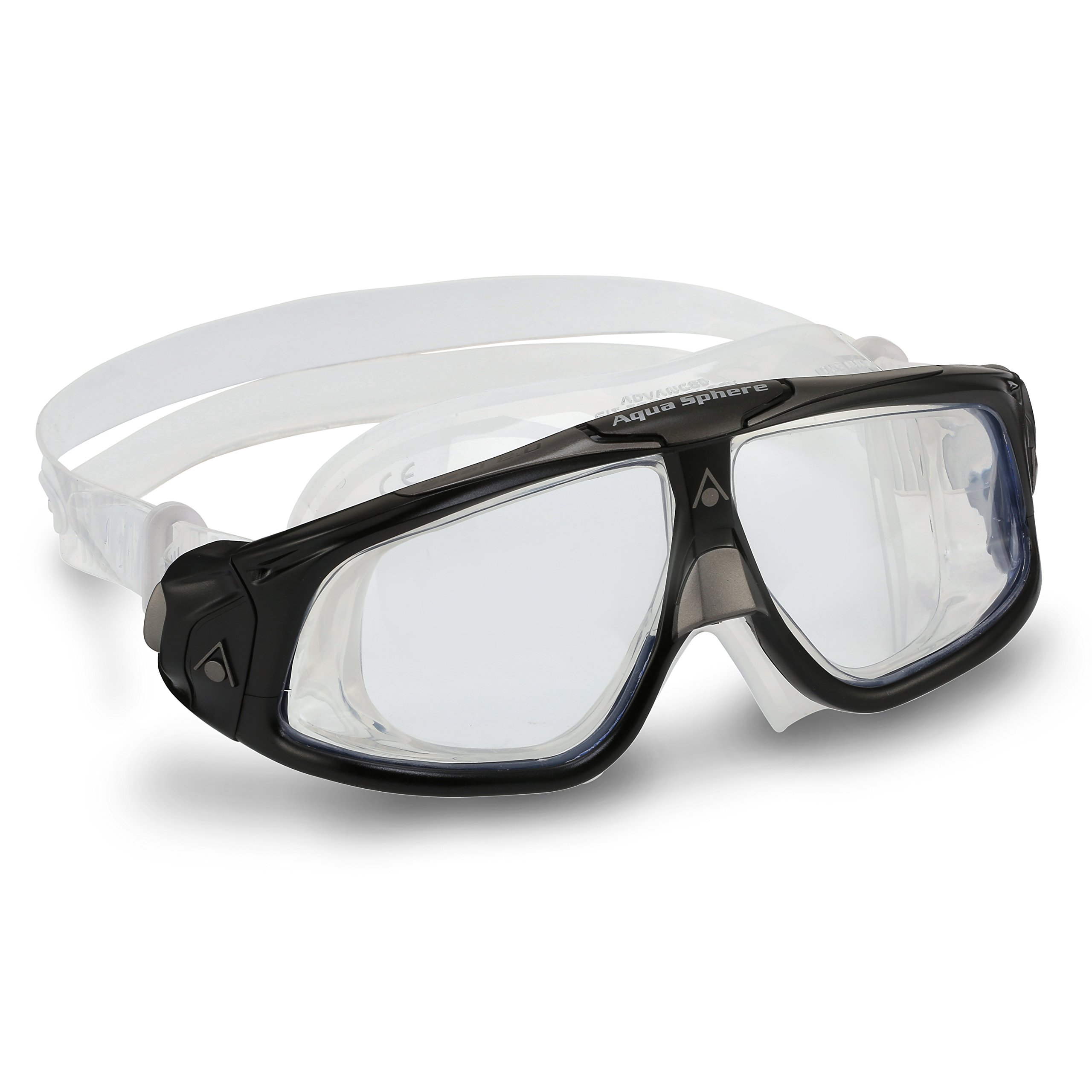 Aqua Lung America Seal Mask with Clear Lens, Silver/Black