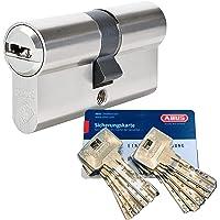 Abus Bravus.2000 Veiligheidscilinder met 10 sleutels, lengte (a/b) 30/35 mm (c = 65 mm) met veiligheidskaart, extra…